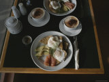 Restaurant Table Filled with Food Photographic Print by Sam Abell