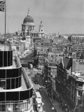 Elevated View of Fleet Street and Saint Pauls Cathedral Photographic Print