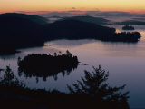 Adirondack Mountains Landscape with Lakes and Hills at Twilight Photographic Print by Maria Stenzel