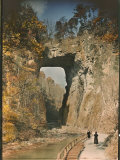 Natural Bridge Spanning Cedar Creek Photographic Print by J. Baylor Roberts
