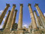 View of Columns from the Ancient Roman City of Jaresh Photographic Print by Richard Nowitz