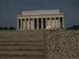 The Lincoln Memorial is Echoed in This Close View of a New Penny Photographic Print by Stephen St. John