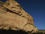 Indian Pictographs on a Sandstone Wall Photographic Print by Stephen Alvarez