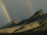 Double Rainbow over the Chisos Mountains Photographic Print by Medford Taylor
