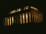 Night View of the Incandescent Lincoln Memorial Photographic Print by Stephen St. John