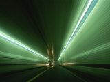 Passing at High Speed Through Tunnel Photographic Print by Medford Taylor