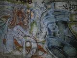 Spray-Painted Murals Line the Cinder Block Walls of East Los Angeles Fotografisk trykk av Stephen St. John