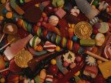 A Varied View of Dime Store Candy Makes Sweet Colorful Patterns Fotografisk trykk av Stephen St. John
