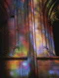 Rich Colors Projected from Stained Glass Windows onto Walls Fotografisk trykk av Stephen St. John