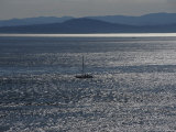 Sailboaters on Silver-Colored Waters Photographic Print by Raymond Gehman
