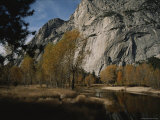 Scenic Autumn View of the Merced River Winding Below Huge Cliffs Photographic Print by Marc Moritsch