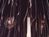 Fourth of July Fireworks and the Washington Monument, Washington, D.C. Photographic Print by Medford Taylor
