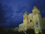 A View of Oaxacas Santo Domingo Church at Night Photographic Print by Raul Touzon
