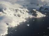 An Aerial View of the Gerlache Strait and Nearby Mountains Photographic Print