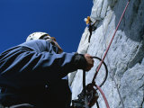 Climbing Mount Combatant, Coast Range, British Columbia, Canada Photographic Print by Jimmy Chin