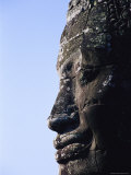 Side Profile of Of the Face of Avalokiteshvara in the Bayon Temple Photographic Print by Gina Martin