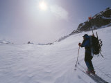A Climber Skis Through the Highest Icecap of the Patagonian Range Photographic Print by Gordon Wiltsie