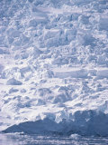 A View of a Glacier Icefall at Paradise Bay Photographic Print