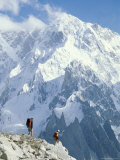 Two Hikers in Charakusa Valley, Karakoram, Pakistan Photographic Print by Jimmy Chin