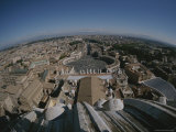 St. Peters Square and Cityscape from the Top of St. Peters Basilica Photographic Print by Raul Touzon