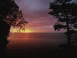 A Sunset over Lake Superior in the Apostle Islands Photographic Print by Raymond Gehman