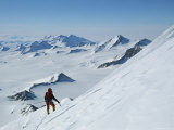 A Climber Nears the Summit of Mount Vaughn Photographic Print by Gordon Wiltsie