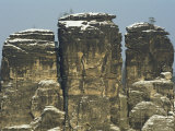 Vertical Rock Formations, Sachsische Schweiz National Park, Germany, Photographic Print