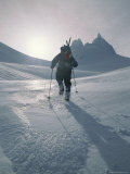 A Mountain Climber Approaches the Fickle Finger of Fate Photographic Print by Gordon Wiltsie