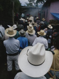 A Gathering of Guatemalan Men in Cowboy-Style Hats Photographic Print by Raul Touzon