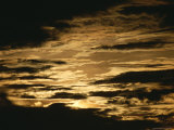 Altocumulus clouds at sunset after hurricane Gordon had passed, Photographic Print
