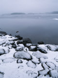 Snow-Covered Rocky Shore Photographic Print by Mattias Klum