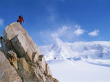 A Mountain Climber Summits Mount Bearskin Photographic Print by Gordon Wiltsie