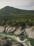 Rafting the Sheep Slot Rapids of the Firth River in Yukon Territory Photographic Print by Michael Melford