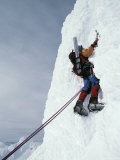 A Mountain Climber Makes His Way up the Fickle Finger of Fate Photographic Print by Gordon Wiltsie