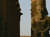 Statue of Ramses Ii in the Luxor Temple Complex Photographic Print by Kenneth Garrett