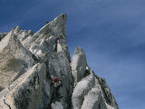 Mountain Climbers Make Their Way up Bugaboo Spire Photographic Print by Gordon Wiltsie
