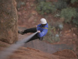 Rock Climbing in Sedona, Arizona Photographic Print by John Burcham
