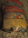 Bright Macaw Feathers Adorn the Front of a 1300-Year-Old Mummy Bundle Photographic Print by Ira Block