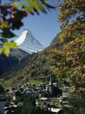 Zermatt Village with the Matterhorn in the Background Photographic Print by Thomas J. Abercrombie