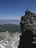 A Climber Atop a Peak, Wheeler Peak, Great Basin National Park Photographic Print by Bill Hatcher