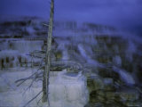 Twilight Winter View of Mammoth Hot Springs Photographic Print by Raymond Gehman