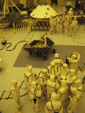 Journalists, Engineers and Technicians Examine a Robot in a Clean Room Photographic Print by Mark Thiessen