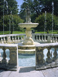 Decorative Fountain in an Elizabethan-Style Garden in Manteo Photographic Print by Vlad Kharitonov