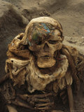 A Close View of a Mummy Exhumed at the Cemetary at Puruchuco-Huaquerones Photographic Print by Ira Block