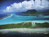 Clouds Hide a Mountain Top on a Pacific Island Photographic Print by Tim Laman