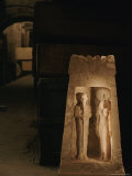 A Shrine from Marsa Matruh Holds Images of the Gods Ptah and Sekhmet Photographic Print by Kenneth Garrett