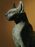 Bronze Statue of Cat Representing the Goddess Bastet Photographic Print by Kenneth Garrett