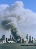 Smoke Billows over Manhattan after the September 11, 2001 Attack Photographic Print by Steve Winter