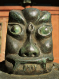 A Carving of a Face in the Bogdo Khan Palace Museum, Mongolia Photographic Print by Ed George