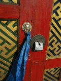 A Decorated Doorway in Ulaanbaatar, Mongolia Photographic Print by Ed George